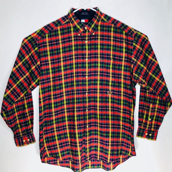 de9990e8 Tommy Hilfiger Shirts | Vintage Mens Ls Shirt Large Plaid | Poshmark